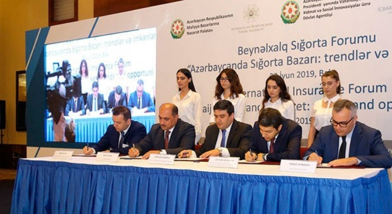 A memorandum of Understanding was signed for the development of the insurance sector