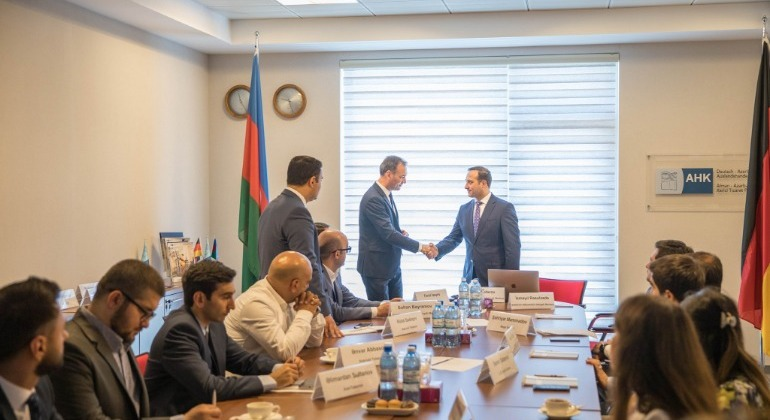 "The meeting on the topic of ""Support of E-government to the business"" was held at the German-Azerbaijani Chamber of Commerce (AHK Azerbaijan) office"