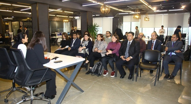 An information Session for NGOs held at the E-GOV Development Center